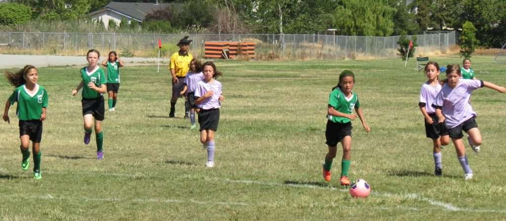 recreational soccer action